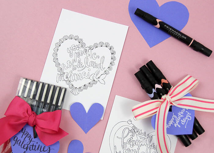 Printable Galentine's Day Coloring Pages