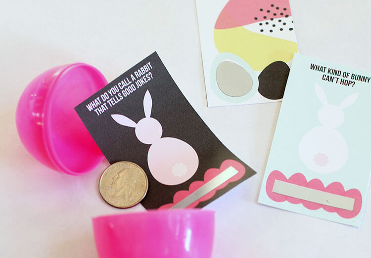make your own scratch off easter joke cards - free printable