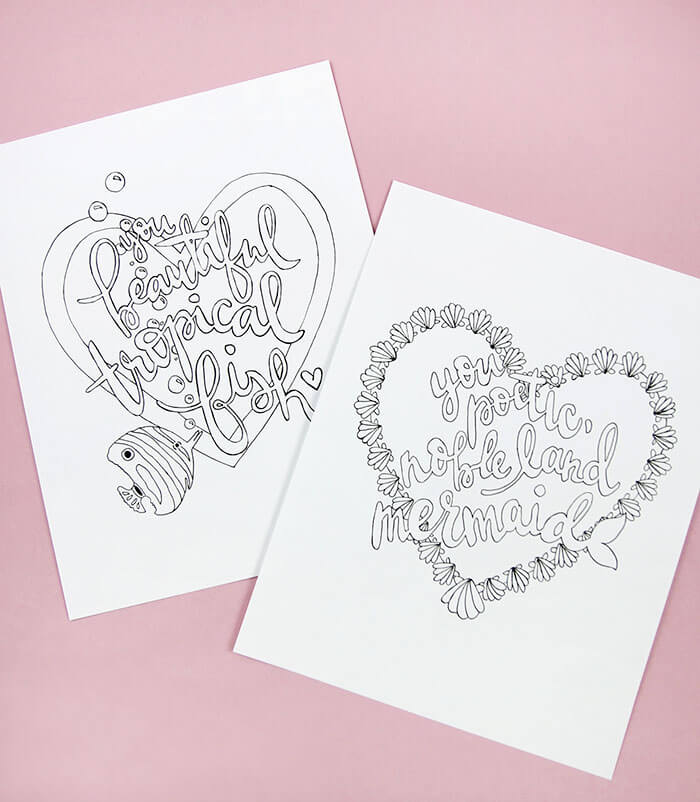 Printable Galentines Day Coloring Pages Persia Lou