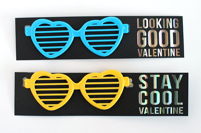 free printable glasses valentines - great non-candy, allergy free valentine idea
