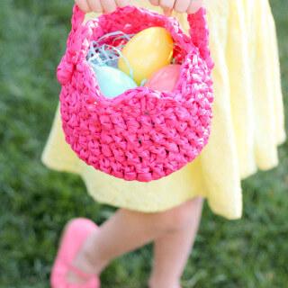 Plastic Crocheted Easter Basket