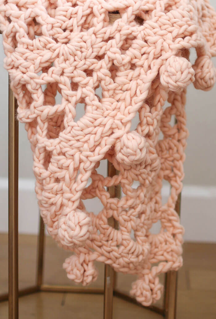 Crochet this gorgeous crocheted blanket easily and quickly with a kit from We Are Knitters.