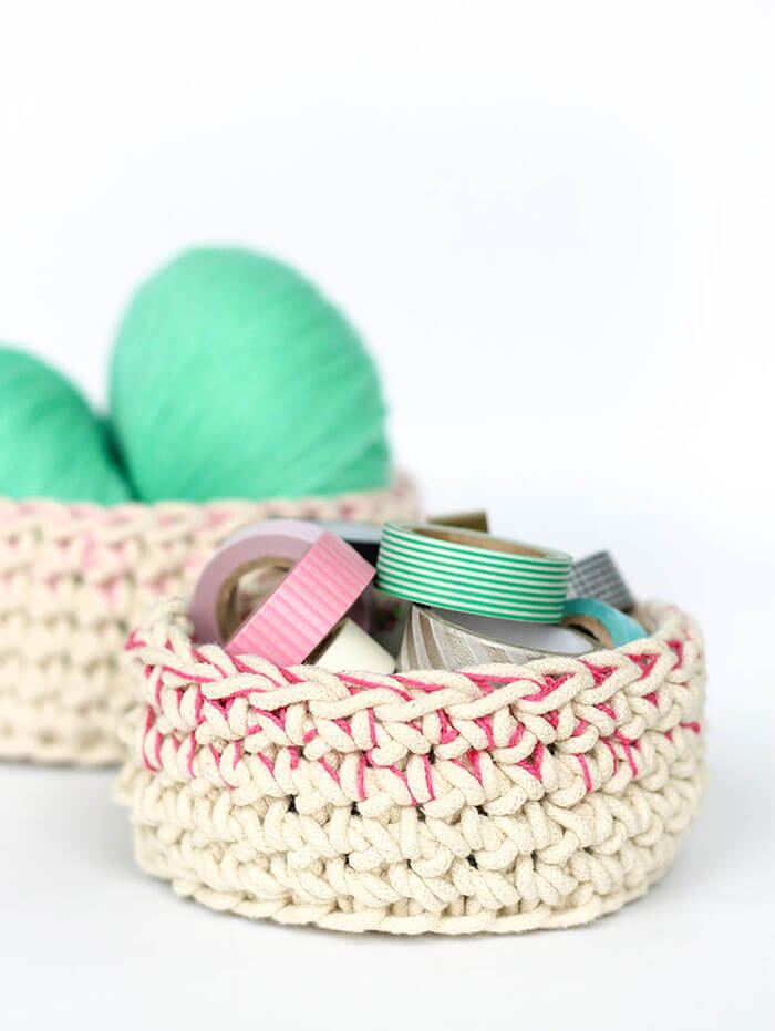 Large Crochet Basket With Handles Free Crochet Pattern Persia Lou