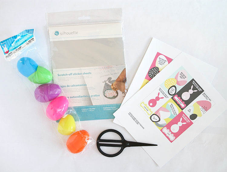 Make your own printable scratch off Easter joke cards. They are the perfect non-candy egg fillers and easy to make with scratch off sticker paper.