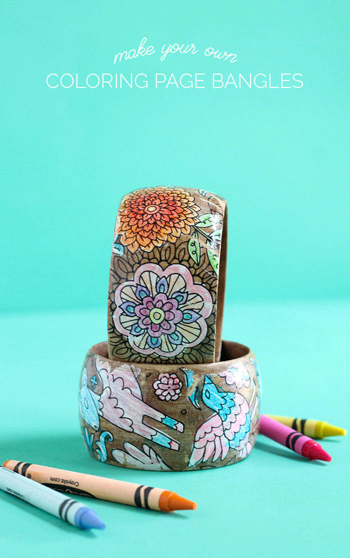 make your own diy coloring page bracelets turn your coloring book or your kids