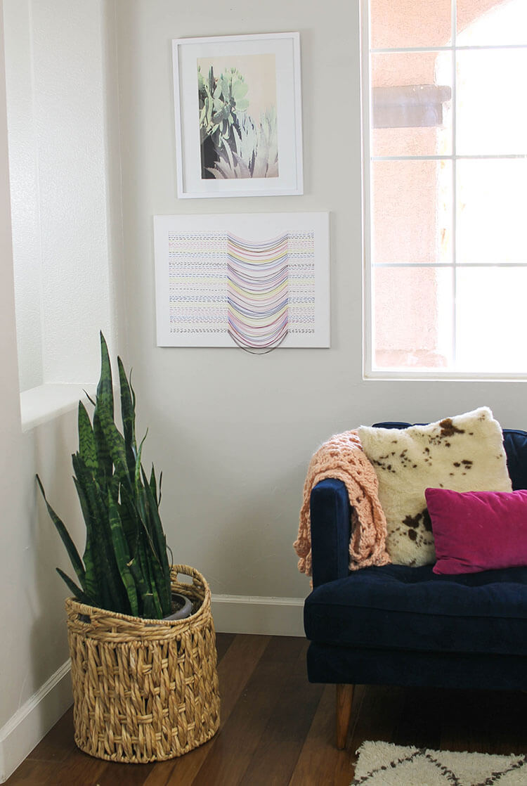 make your own unique embroidered canvas art - it's simple to make and has interesting texture and movement - free step-by-step tutorial