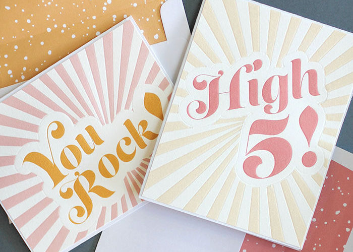 DIY Letterpress Look Notecards with the Silhouette Curio