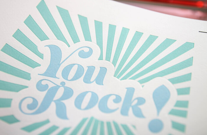 get the look of letterpress - diy letterpress look notecards with the silhouette curio