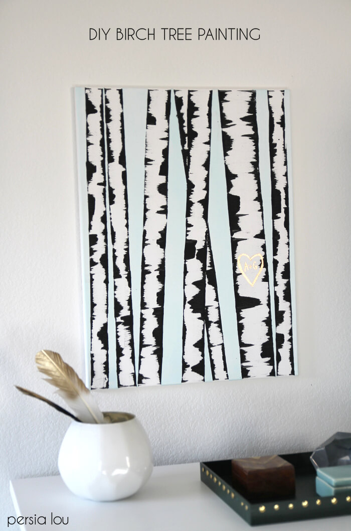 DIY Birch Tree Painting