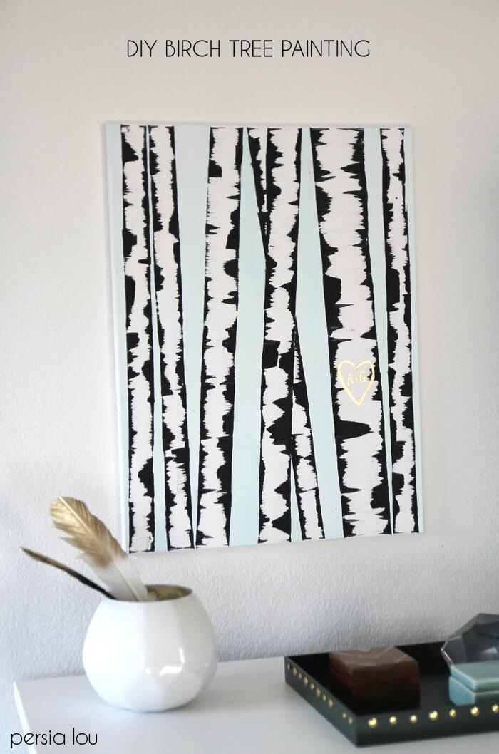 DIY Birch Tree Painting