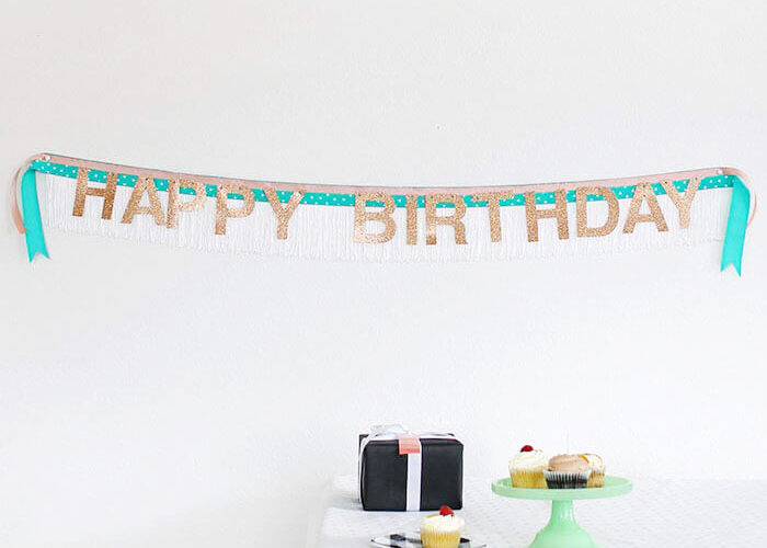 DIY Fringe Banner and Birthday Giveaway