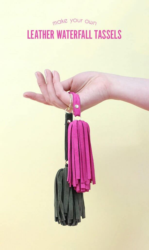 DIY Leather Tassel Keychain