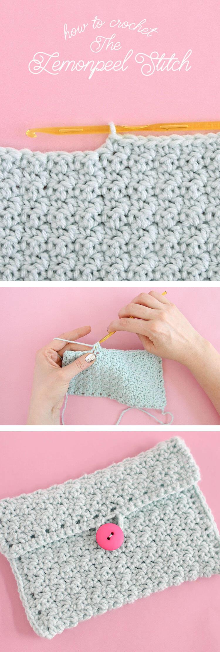 How To Crochet Lemon Peel Stitch Persia Lou