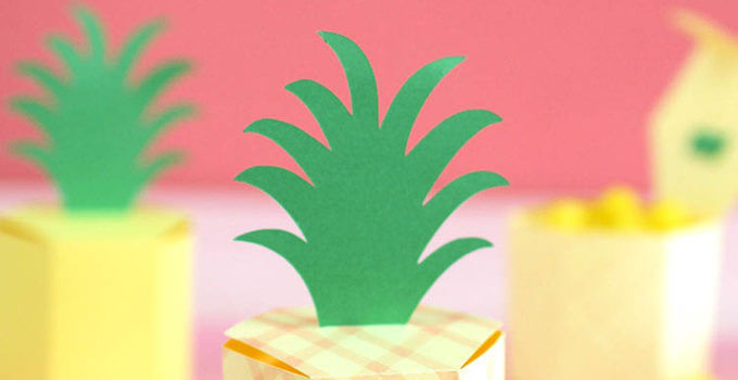 Pineapple Treat Boxes at Crafts Unleashed