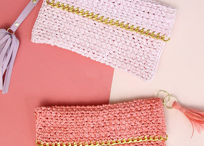 Chain Edge Raffia Crochet Clutch Pattern
