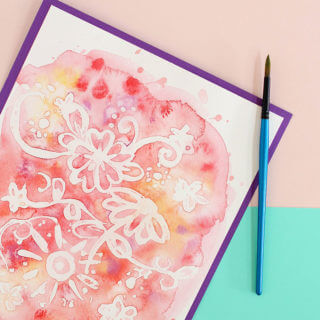 Easy Watercolor Art – Rubber Cement Resist