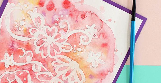 Easy Watercolor Art – Rubber Cement Resist