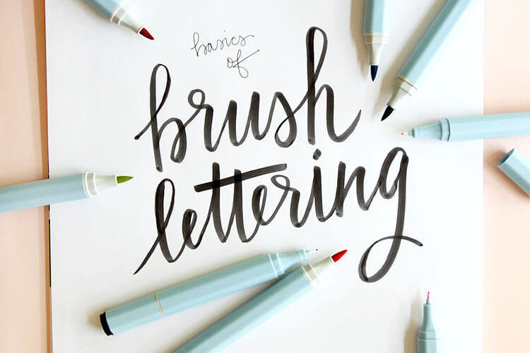 Brush Lettering Basics at Consumer Crafts