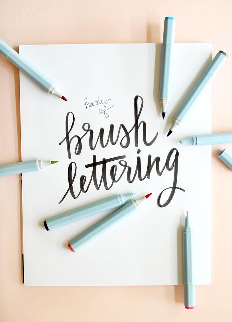 Brush lettering basics at consumer crafts persia lou