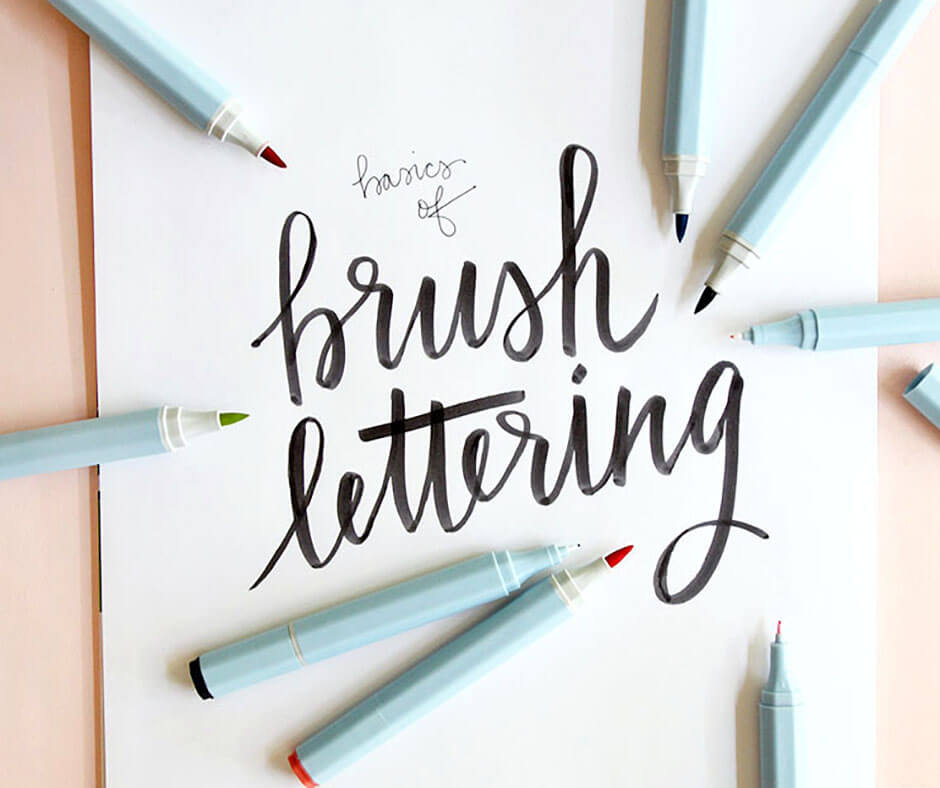 Brush Lettering Basics At Consumer Crafts Persia Lou