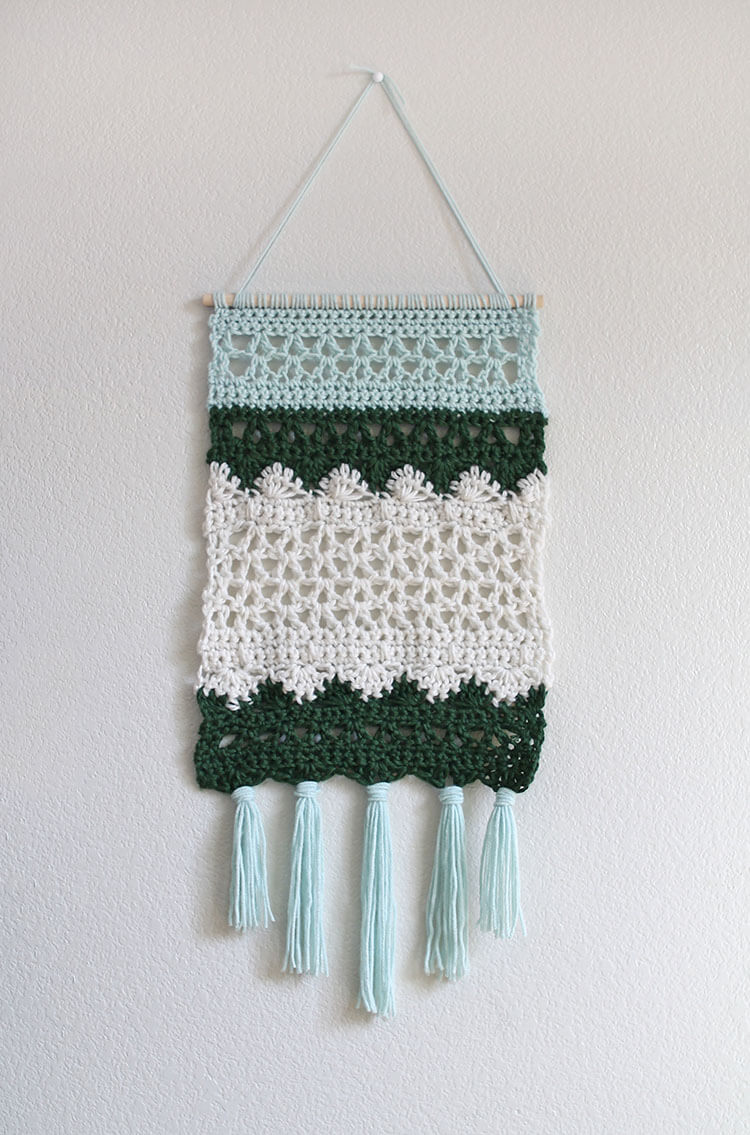 DIY crochet wall hanging