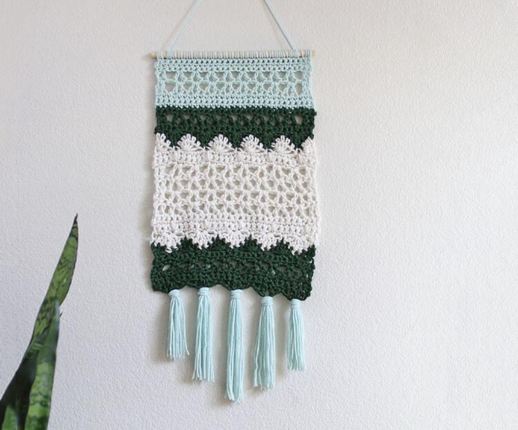 Crochet Wall Hanging Crochet Home Decor Tapestry Crochet Be Still Chinese Calligraphy Wall Decor Crochet Pattern