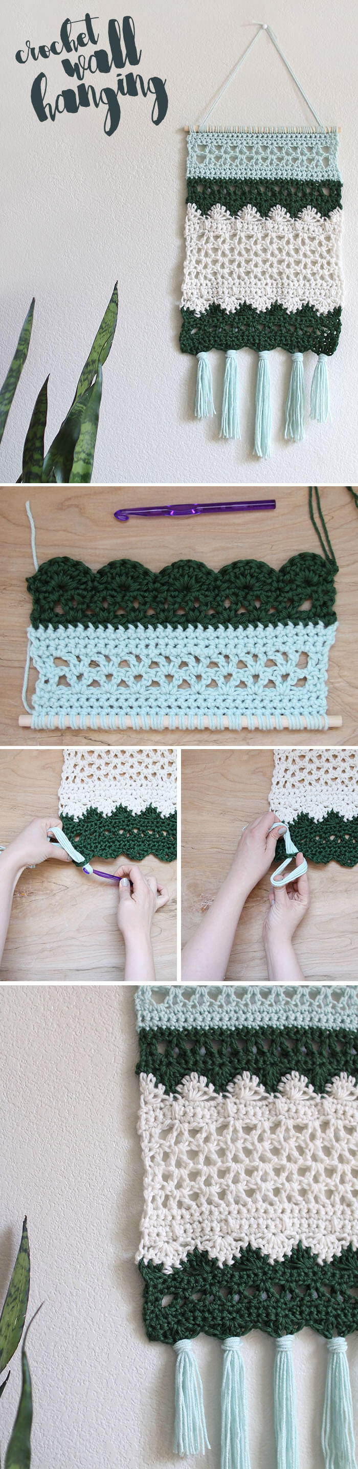 Crochet wall hanging pattern persia lou Crochet home decor pinterest