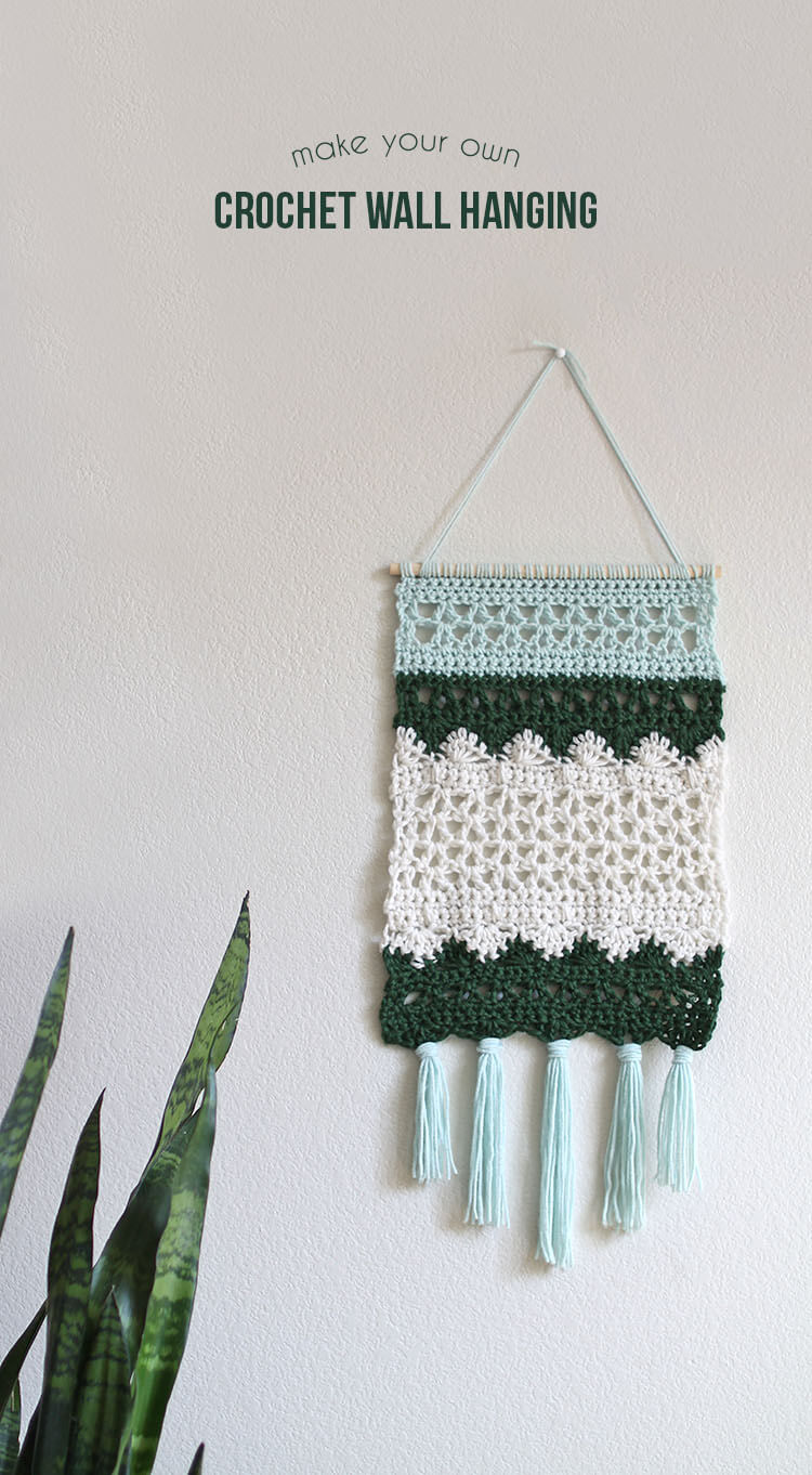 free pattern to make a beautiful crochet wall hanging