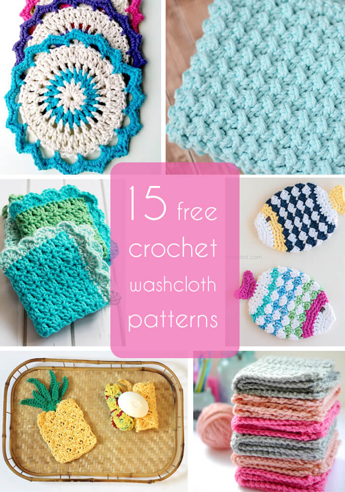 15 free crochet washcloths patterns