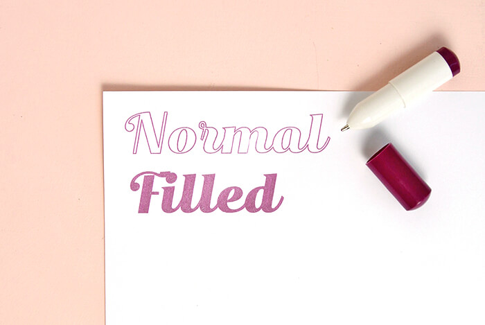 normal vs filled2
