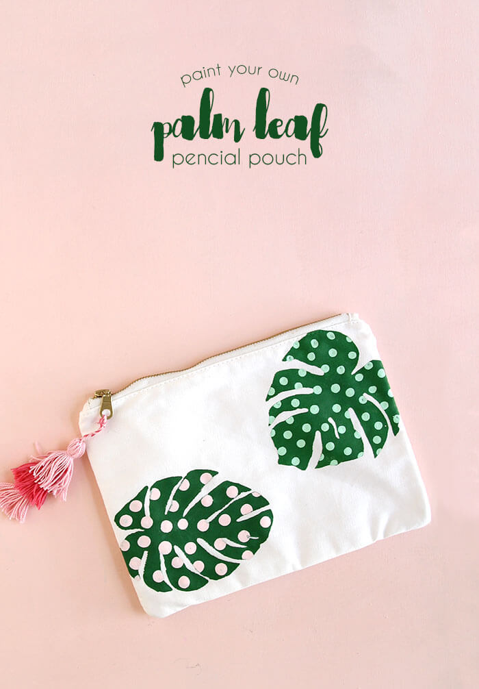 paint your own palm leaf pencil pouch - make your own pencil case