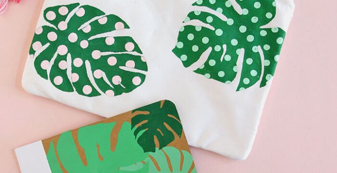 Paint Your Own Palm Leaf Pencil Pouch