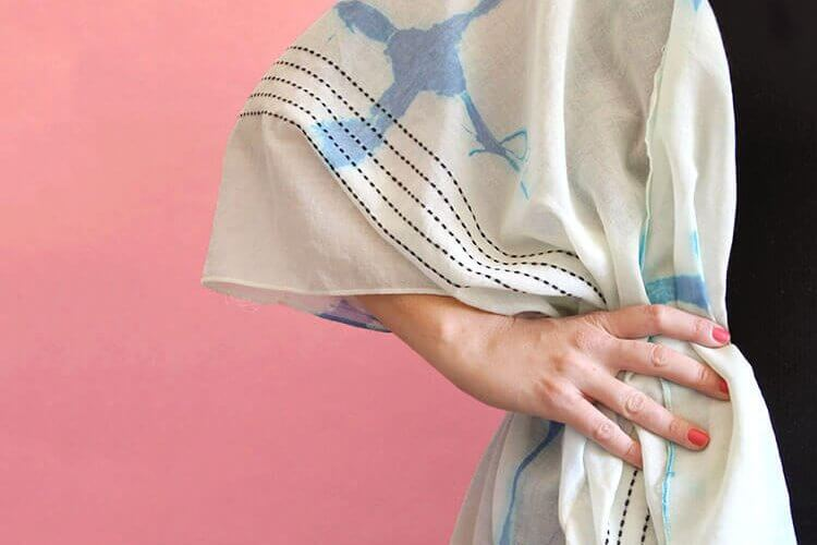 DIY Shibori Kimono at Crafts Unleashed