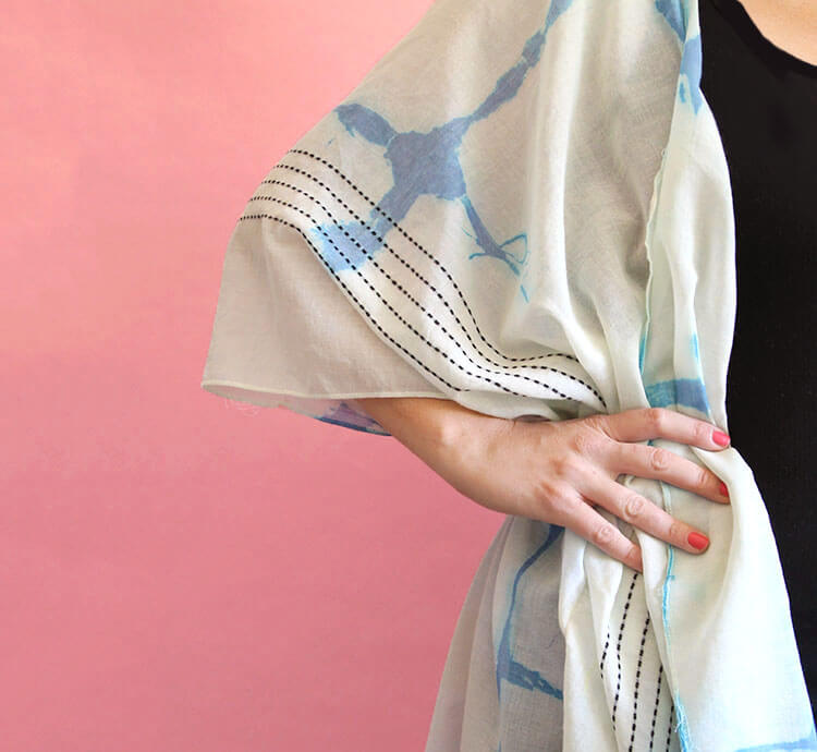 DIY Shibori Kimono at Crafts Unleashed