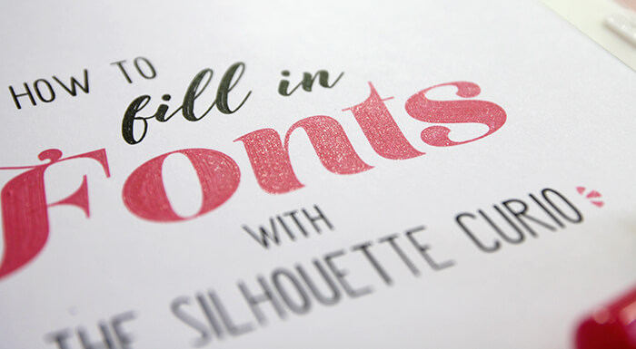 fill in fonts with silhouette curio