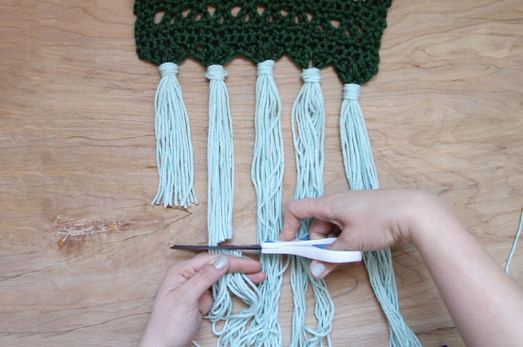 crochet wall hanging tassels