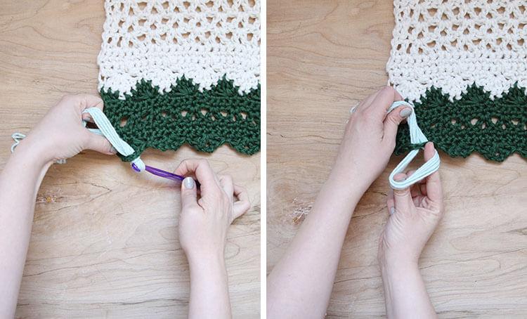 crochet wall hanging add tassels