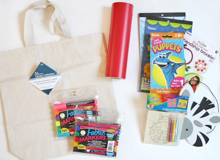kids boredom busters bag supplies