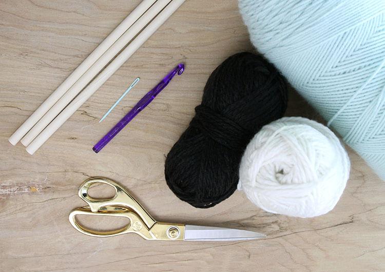 crochet wall hanging supplies
