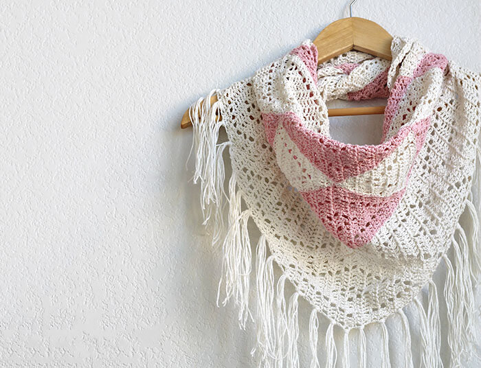 The Trillium: Geometric Triangle Scarf Crochet Pattern ...