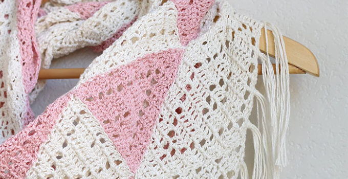 The Trillium: Geometric Triangle Scarf Crochet Pattern