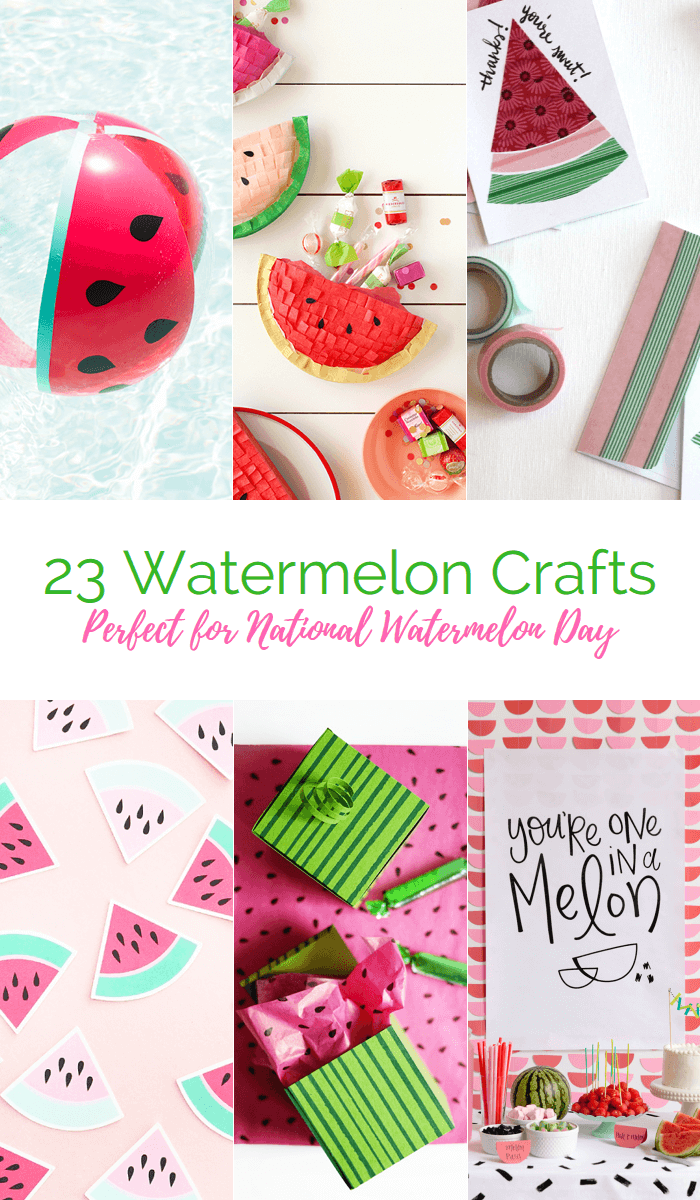 23 great watermelon-themed crafts for National Watermelon Day!