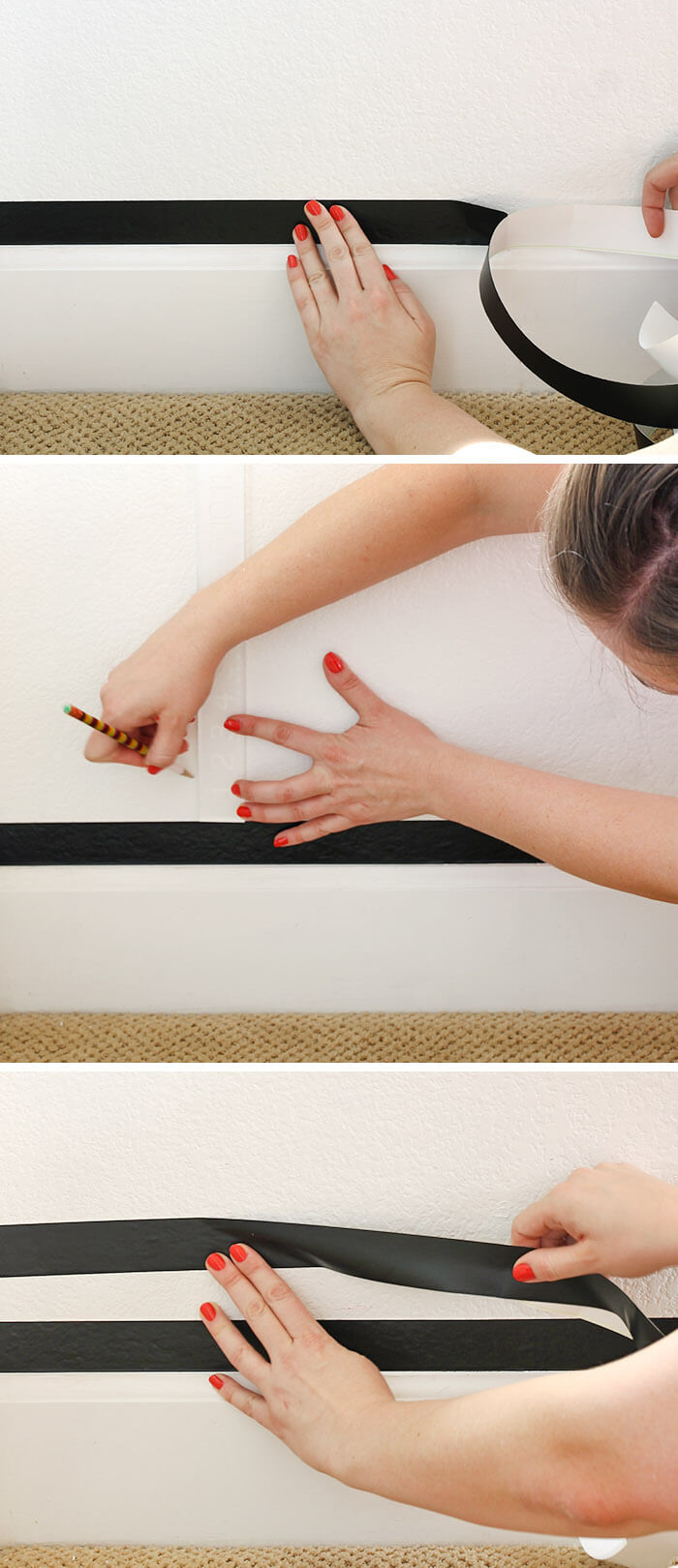 how to apply easy stripe - the easiest way to get a perfect stripe wall