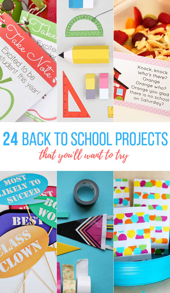 24 bright and colorful back to school projects that you'll want to try - so many fun ideas!