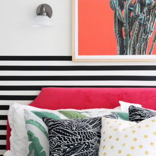 A Colorful Modern Bedroom Makeover