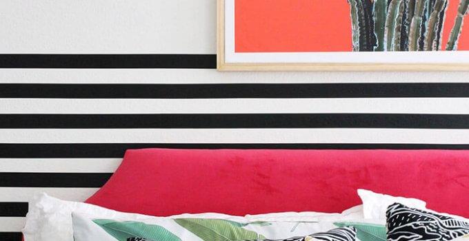 A Colorful Modern Bedroom Makeover