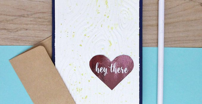 Watercolor Embossed Notecards at Crafts Unleashed