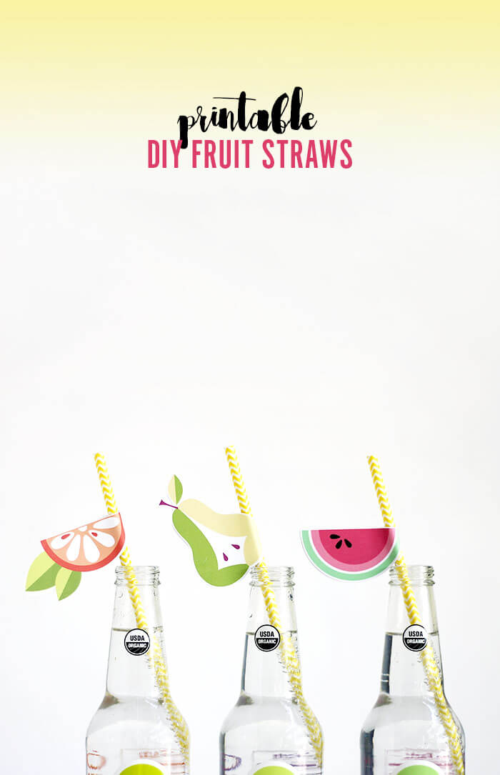 printable diy fruit straws