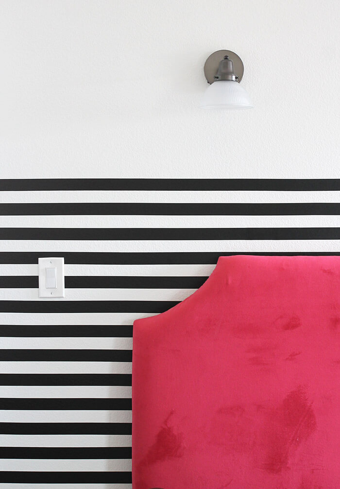 the easiest way to get a perfect striped wall