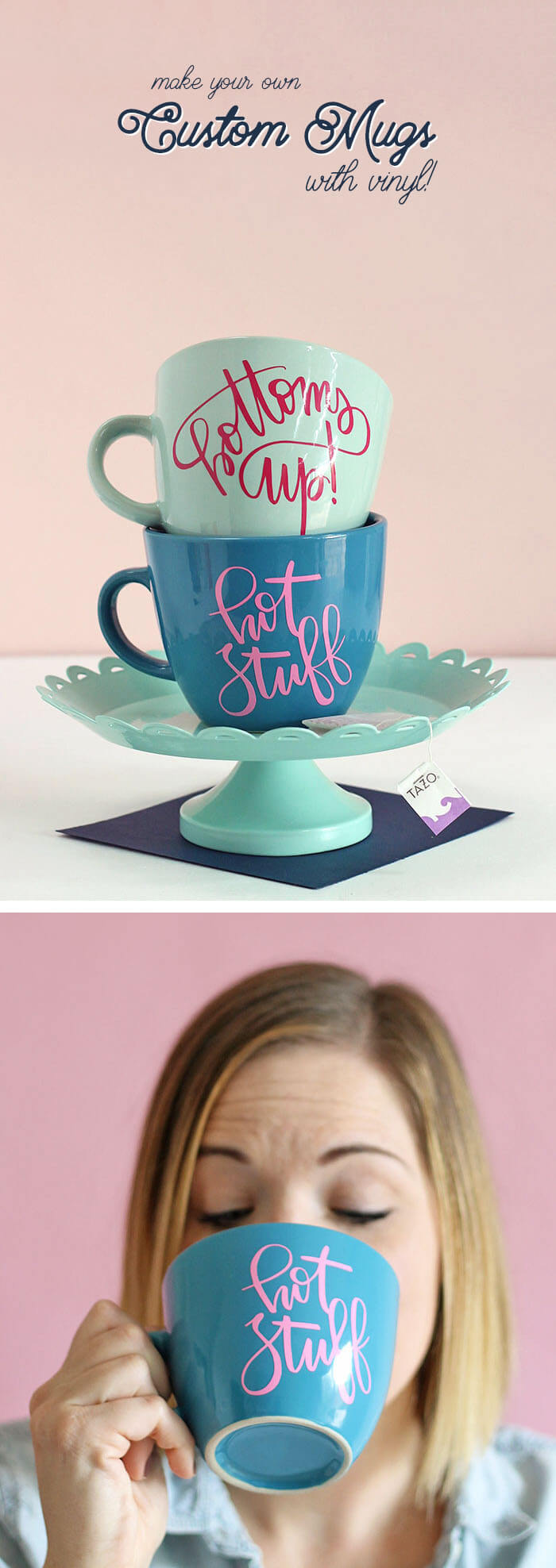How To DIY Personalized Mugs And Tea Cups Persia Lou - Vinyl cup care instructions